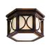 Holmby Hills  Flush Mount in Bronze