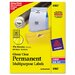 Permanent I.D. Labels, 500/Pack