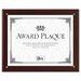 Plaque-In-An-Instant Kit with Certificates/Mats, Wood/Acrylic, 10-1/2 X 13