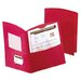 Contour Two-Pocket Folder, Paper, 150-Sheet Capacity, Red