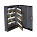 Locking 90-Key Cabinet, 11 3/4w x 4 1/4d x 14 3/4h, Charcoal Gray