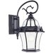 Fleur De Lis Outdoor Wall Lantern in Bronze