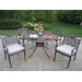 Capitol Mississippi 5 Piece Dining Set with Cushions