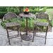 Mississippi 3 Piece Bar Height Dining Set