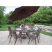 Mississippi 9 Piece Dining Set with Umbrella