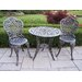 Tea Rose 3 Piece Bistro Set