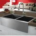 "33"" x 22.25"" Double Bowl Farmhouse Kitchen Sink"
