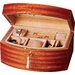 "Curved Front Mahogany 6.25"" High Jewelry Box"