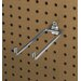 DuraHook 8-1/4 In. Double Rod 80 Degree Bend 1/4 In. Dia. Zinc Plated Steel Pegboard Hook for DuraBoard, 5 Pack