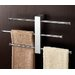 Bridge Wall Mounted Sliding Three Tier Towel Holder in Chrome