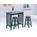 3 Piece Counter Height Bar Table Set