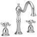 Two Handle Widespread Kitchen Faucet with Metal Cross Handles