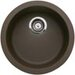 Rondo Single Bowl Kitchen Sink in Cafe Brown
