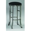 "High Rise 30"" Quick-Ship Backless Swivel Barstool in Pewter"