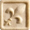 "Romancing the Stone 2"" x 2"" Compressed Stone Fleur de Lis Insert in Ivory"