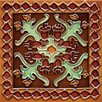 "Mission 6"" x 6"" Hand-Painted Ceramic Decorative Tile in Oaxaca"