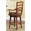 Waverly Place Ladderback Counter Stool in Cherry
