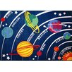 Fun Time Solar System Classroom Kids Rug