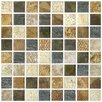 "Tesselar 7-13/16"" x 7-13/16"" Glazed Ceramic Mosaic in Tresor"