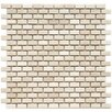 "Arcadia 11-3/4"" x 11-3/4"" Glazed Porcelain Subway Mosaic in Glacier"