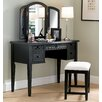 "43"" Antique Black Vanity Set"