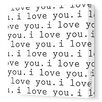 Imagination - 'I Love You' Stretched Wall Art