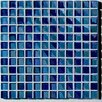 "Metallica 11.75"" x 11.75"" Glass Mosaic in Mix Metallica Azzurro"