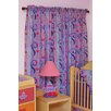 Little Girl Teaset Cotton Rod Pocket Curtain Panel Pair