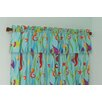 Tropical Seas Cotton Rod Pocket Tailored Curtain Valance