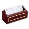 5000 Series 24kt Gold Tooled Leather Business Card Holder in Burgundy