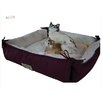 Cat Bed in Burgundy and Ivory