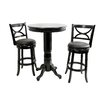 Florence Pub Table Set in Black