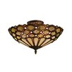 Jewel 3 Light Semi Flush Mount