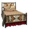 Hickory Panel Bed