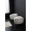 Moai Wall Mount Bidet in White