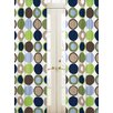 Designer Dot Rod Pocket Curtain Panel Pair