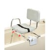 Tub Mount X-Short Transfer Bench with Padded Swivel Seat / Back