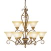 Bristo 9 Light Chandelier