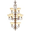 Bristo 12 Light Chandelier