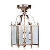 Home Basics 3 Light Convertible Foyer Pendant