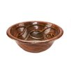 Round Braided Self Rimming Hammered Copper Bathroom Sink in Oil Rubbed Bronze
