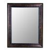 Cameo Collection Mirror in Espresso Walnut with Walnut Liner