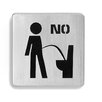 "Signo Door Plate ""Sit Down to Pee"""