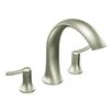 Fina Two Handle High Arc Roman Tub Faucet