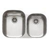 "Enhanced 31"" Regatta Stainless Steel Double Bowl Kitchen Sink"