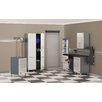 Storage 6-Piece 12' Cabinet System with Work Station in Starfire Pearl