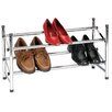 Storage and Organization Sliding Rods Shoe Rack with Locking Mechanism