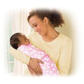 SwaddleMe Microfleece Blanket in Meadow / Pink