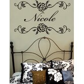 Rosevine Monogram Wall Decal