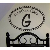 Not So Whimsy Monogram Wall Decal